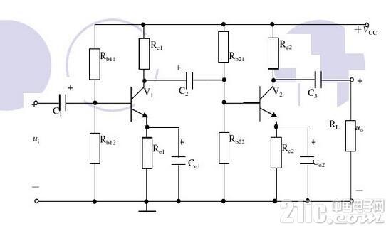 两级阻容耦合放大电路