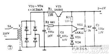 实用稳压电源电路图