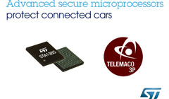 ST先进的内置安全模块汽车处理器保护互联网汽车,抵御网络威胁