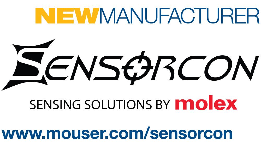 贸泽与Molex Sensorcon签订全球分销协议 开售小型环境传感器解决方案