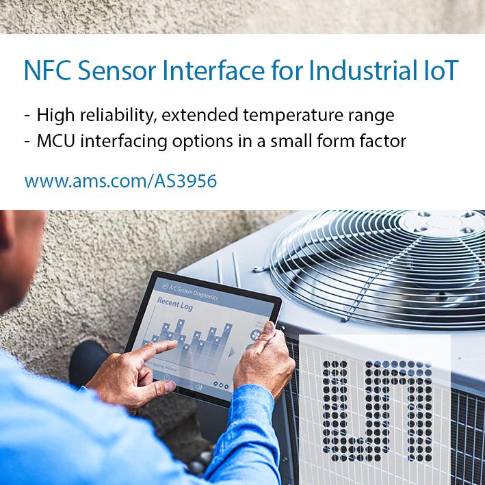 艾迈斯半导体为工业物联网应用推出NFC传感器接口