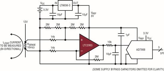 微功率零漂移运算放大器支持无线电流检测