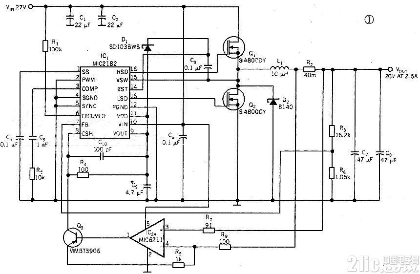 MIC2182电流型同步降压稳压器