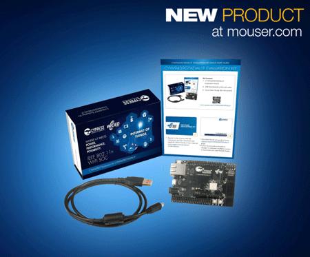 贸泽开售Cypress WICED CYW43907评估套件  助力802.11a/b/g/n 双频Wi-Fi 设计