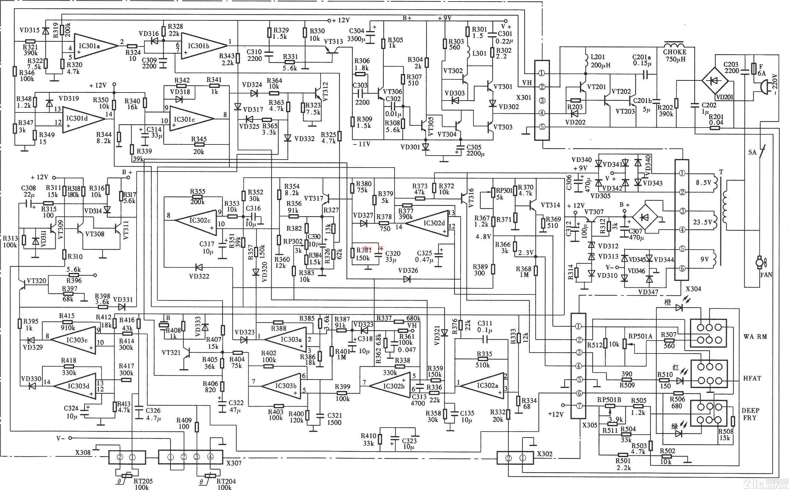欧林电磁炉电路图