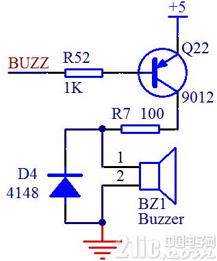 单片机蜂鸣器控制程序和驱动电路
