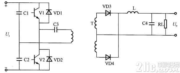 半桥功率变换电路图
