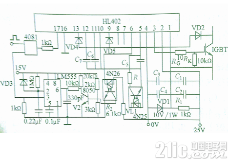 HL402高频应用的典型接线