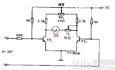 简易直流电压表电路原理图