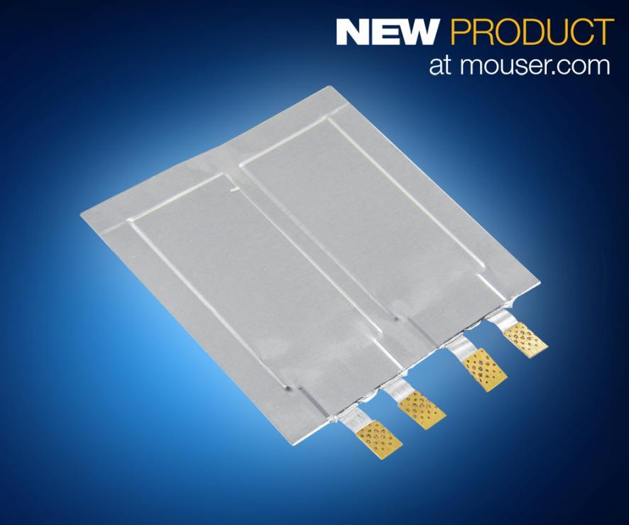 贸泽开售Murata DMH系列超薄超级电容  为可穿戴设备及智能设备提供峰值功率辅助
