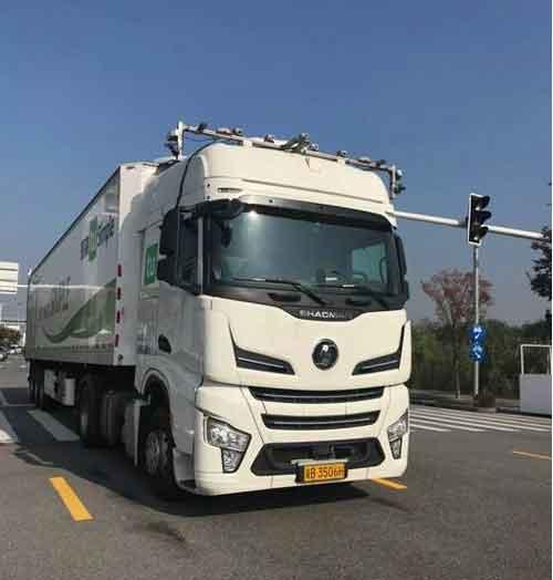 图森自动驾驶卡车上海试乘
