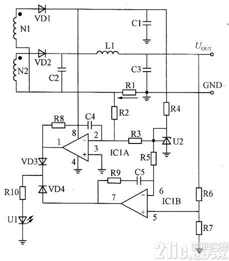 由电流放大器构成的恒压、恒流控制电路图