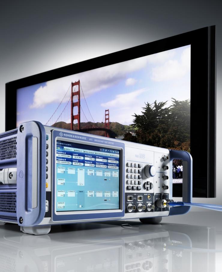 使用罗德与施瓦茨公司的R&S BTC广播电视测试系统高效地进行ATSC 3.0应用测试