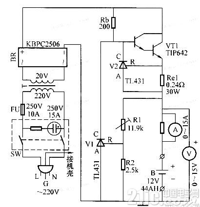汽车蓄电池充电器电路