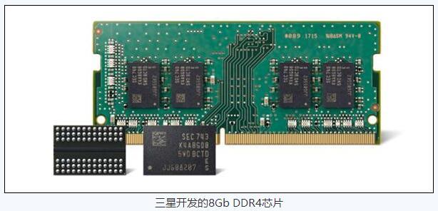 三星量产全球最小DDR4内存芯片 速度提升10%