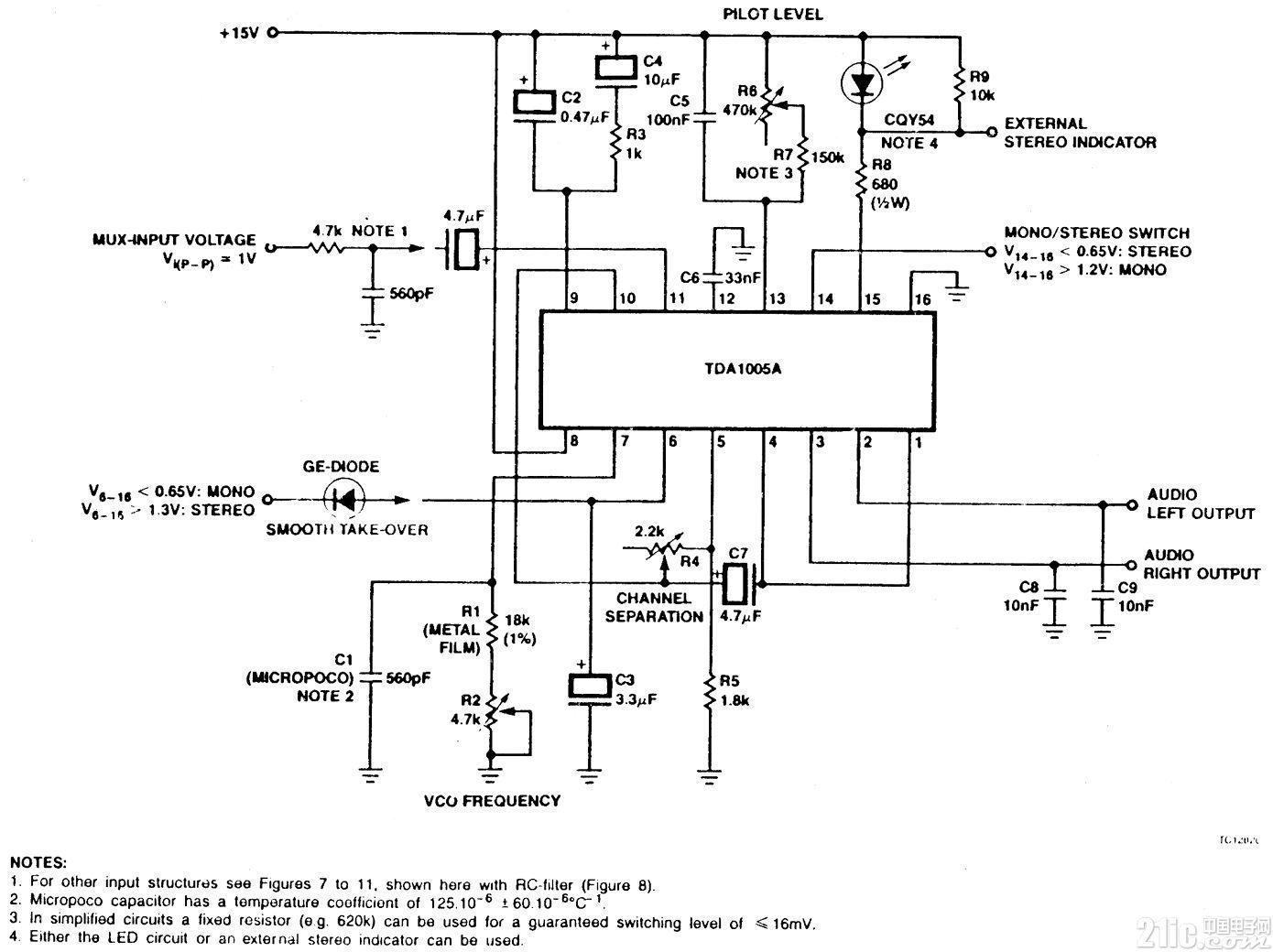 时分多路复用立体声解码器电路