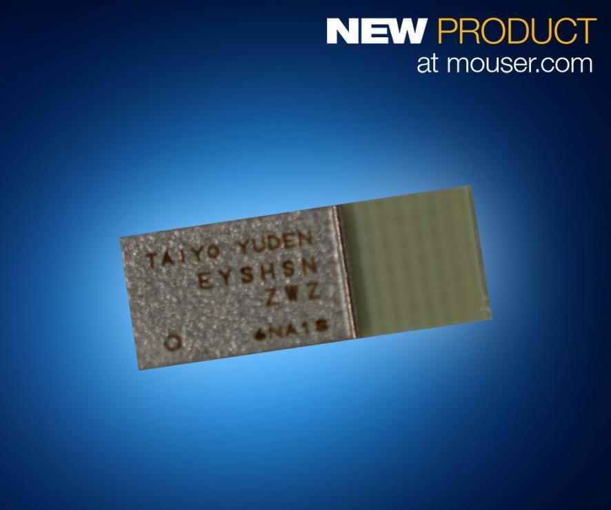 TAIYO YUDEN超小型蓝牙5模块EYSHSNZWZ在贸泽开售  为低功耗无线应用提供强力支持