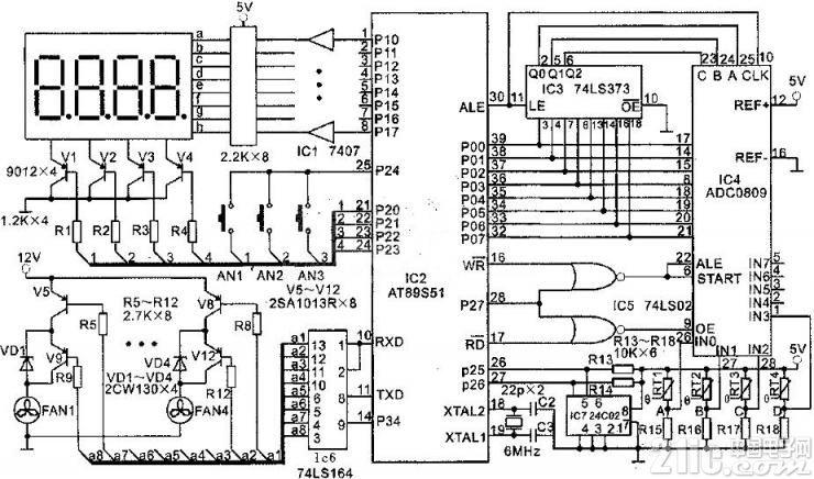 AT89S51电脑自动温度控制器