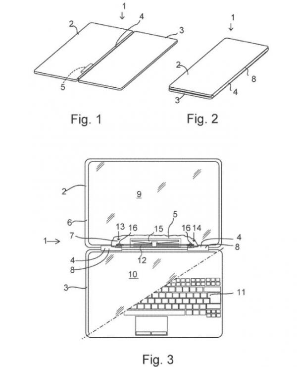 微软新专利曝光:所研发的折叠手机具备触觉反馈引擎