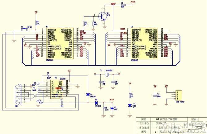 AVR高压并行编程器的自制