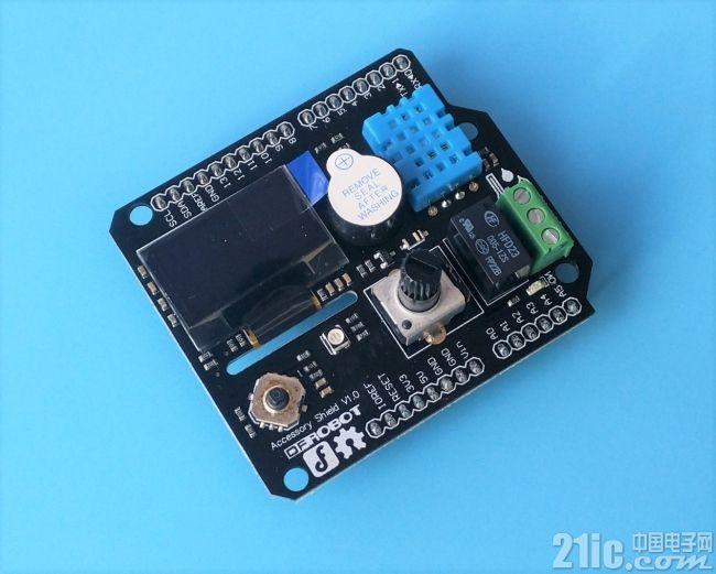 Arduino太low?有了这块扩展板也许就不同了——DFRobot Accessory Shield评测