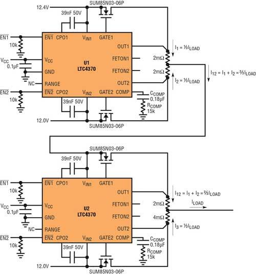 针对三个或四个电源的负载平衡,电源电压不等也不受影响