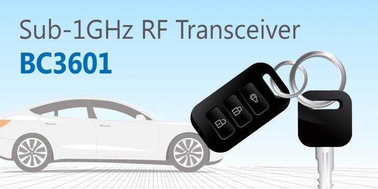 HOLTEK推出BC3601 Sub-1GHz FSK/GFSK RF Transceiver IC