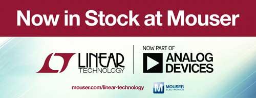 贸泽再添新军供货 Analog Devices 的 Linear Technology 产品线