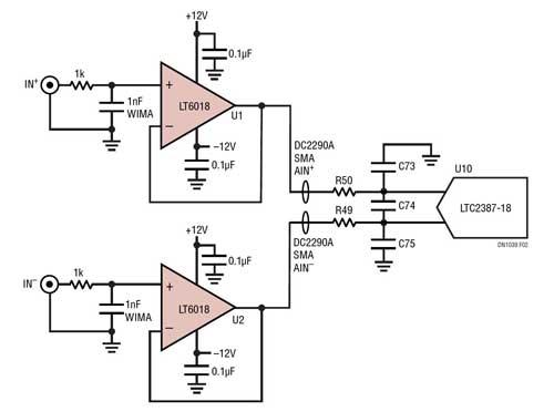 低噪声的精准运放驱动高分辨率 SAR ADC