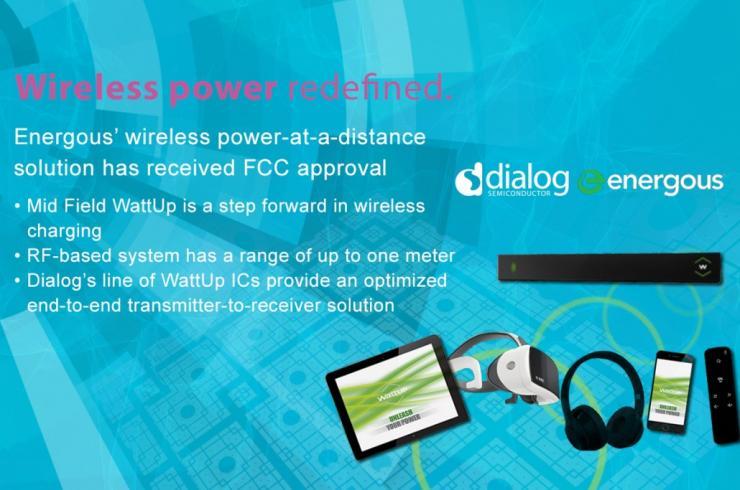 Energous远距离无线充电获FCC认证,释放Dialog半导体完整系统芯片组解决方案路线图