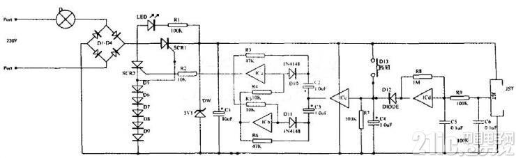 用数字电路CD4069制作的万能遥控轻触开关