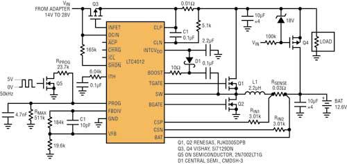 调节电池充电器应用的充电电流