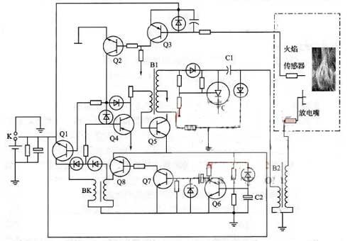 热水器脉冲电路图