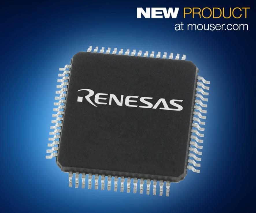 Renesas Electronics最新款多功能低功耗RX130 32位单片机 在贸泽开售