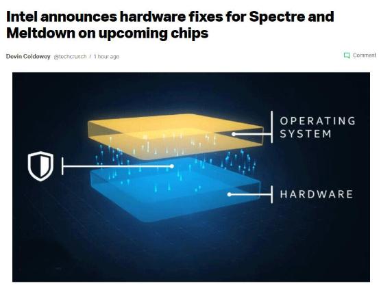 未来芯片将有针对幽灵与熔断漏洞的硬件修复