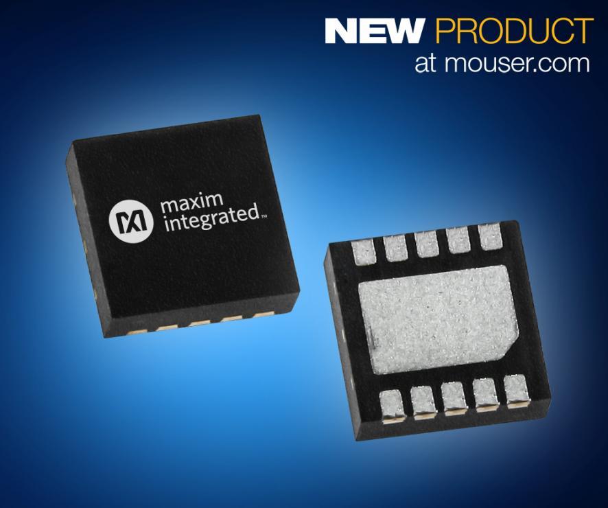 贸泽电子开售Maxim Integrated MAX2250xE 收发器 提供精准运动控制