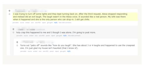 语音助手Alexa莫名怪笑吓坏用户 亚马逊:她也不想的