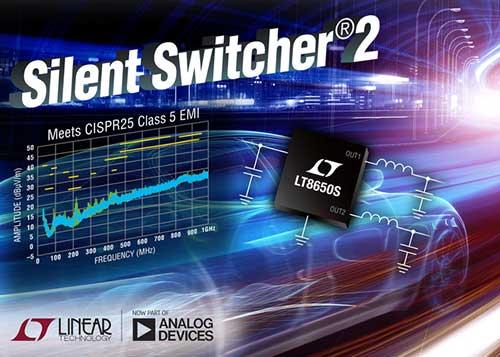 Silent Switcher 2:每通道提供 4A 的双通道、42V 微功率降压型稳压器