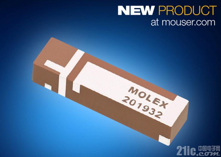 贸泽开售面向物联网和M2M应用的Molex三频段Wi-Fi天线