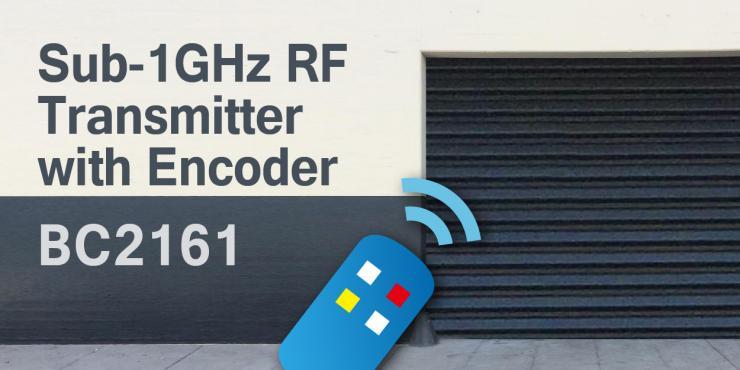 HOLTEK新推出BC2161 Sub-1GHz具编码器的RF发射器