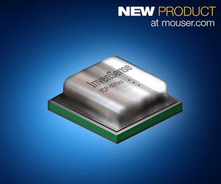 贸泽备货InvenSense ICP-10100防水型低功耗MEMS传感器提供精确的压力和温度读数