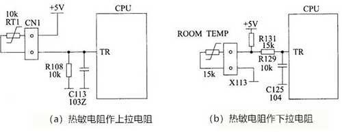 空调温度检测电路图