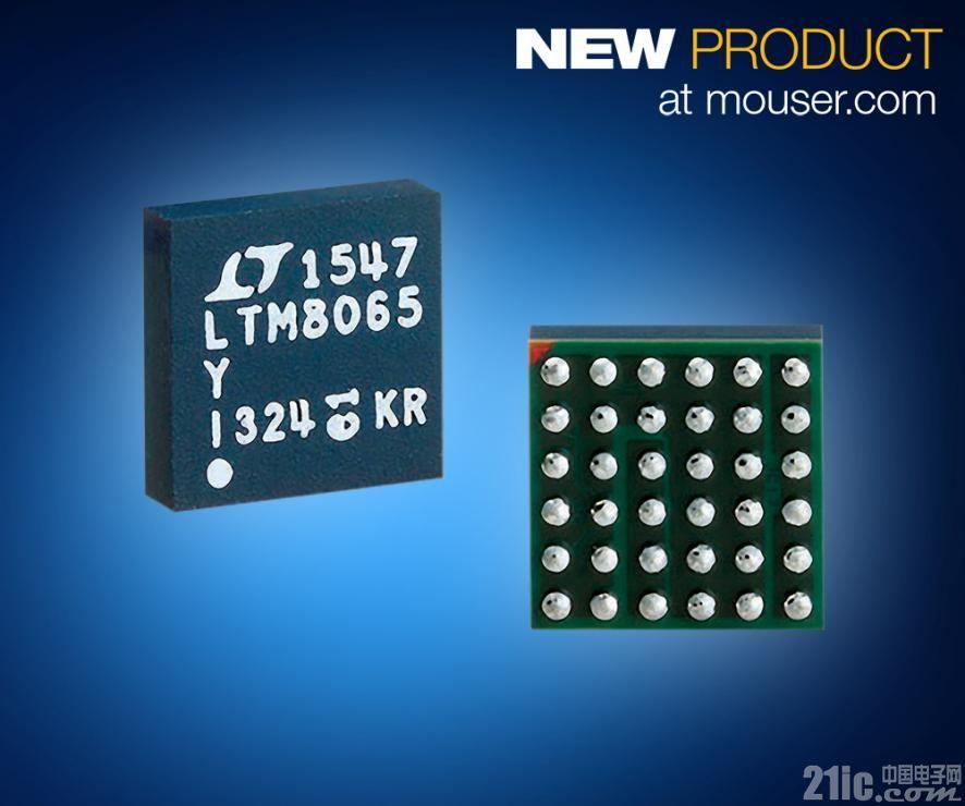 贸泽备货Analog Devices LTM8065Module稳压器 采用Silent Switcher架构大幅降低EMI/EMC
