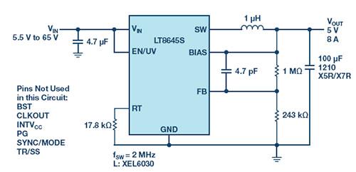 低 EMI/EMC 开关转换器简化 ADAS 设计