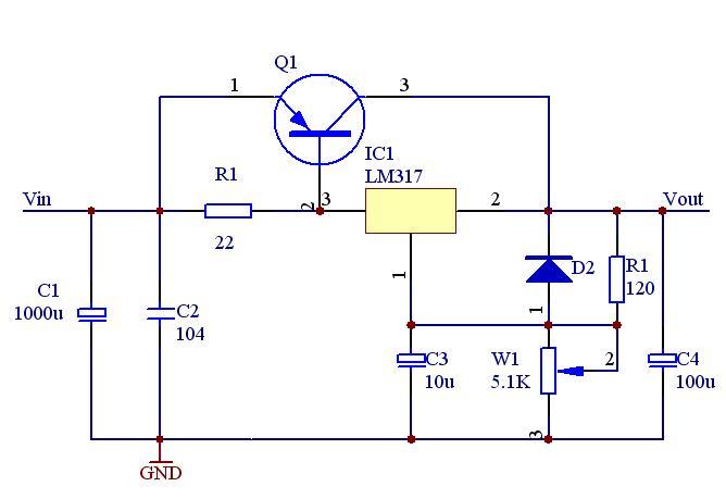 收藏!三端可调稳压集成电路LM317的多种应用电路