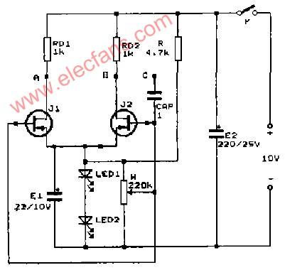 测量N,P结型场效应管配对的电路