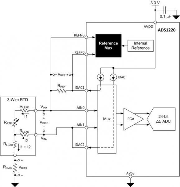 三线电阻式温度检测器测量系统中励磁电流失配的影响(续)