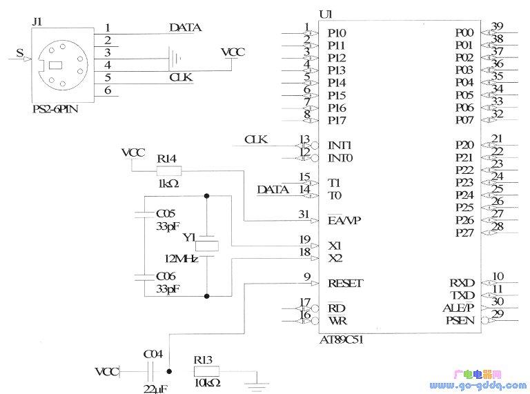 用51单片机实现PS/2键盘的控制