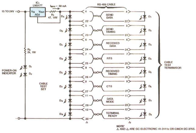 双绞线快速测试电路
