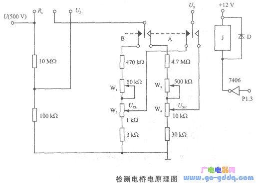 多触点绝缘电阻微机测试系统硬件电路设计